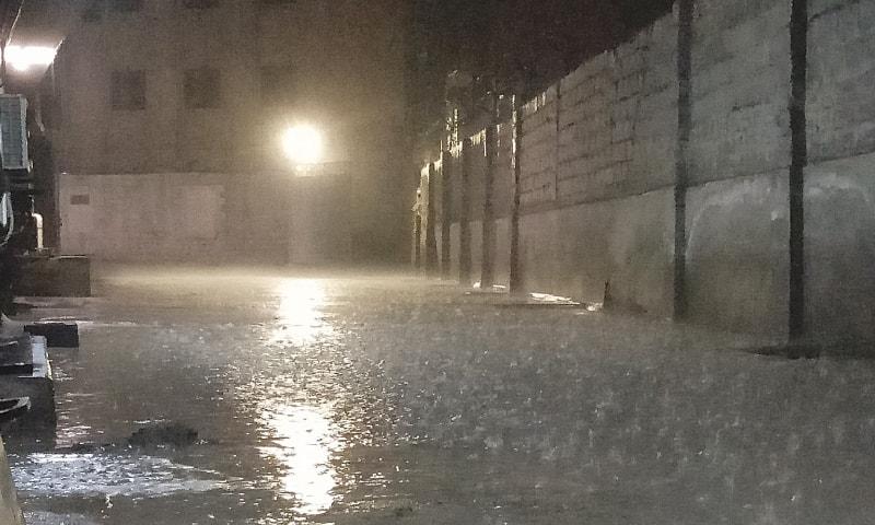 Light rain in Karachi turns weather pleasant