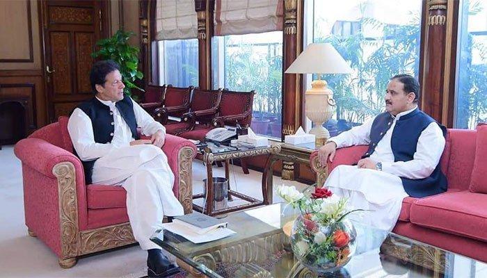PM Imran meets Punjab CM Usman Buzdar in Lahore