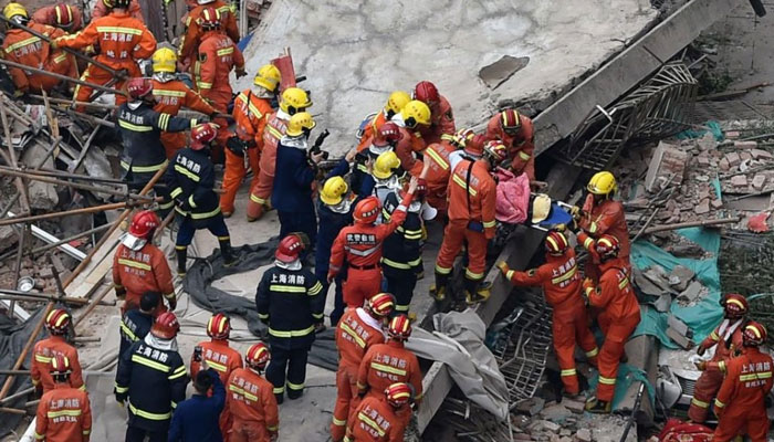Restaurant collapse in northern China leaves at least 13 dead