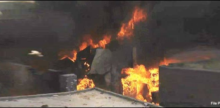 Four injured in blaze in factory in Lahore