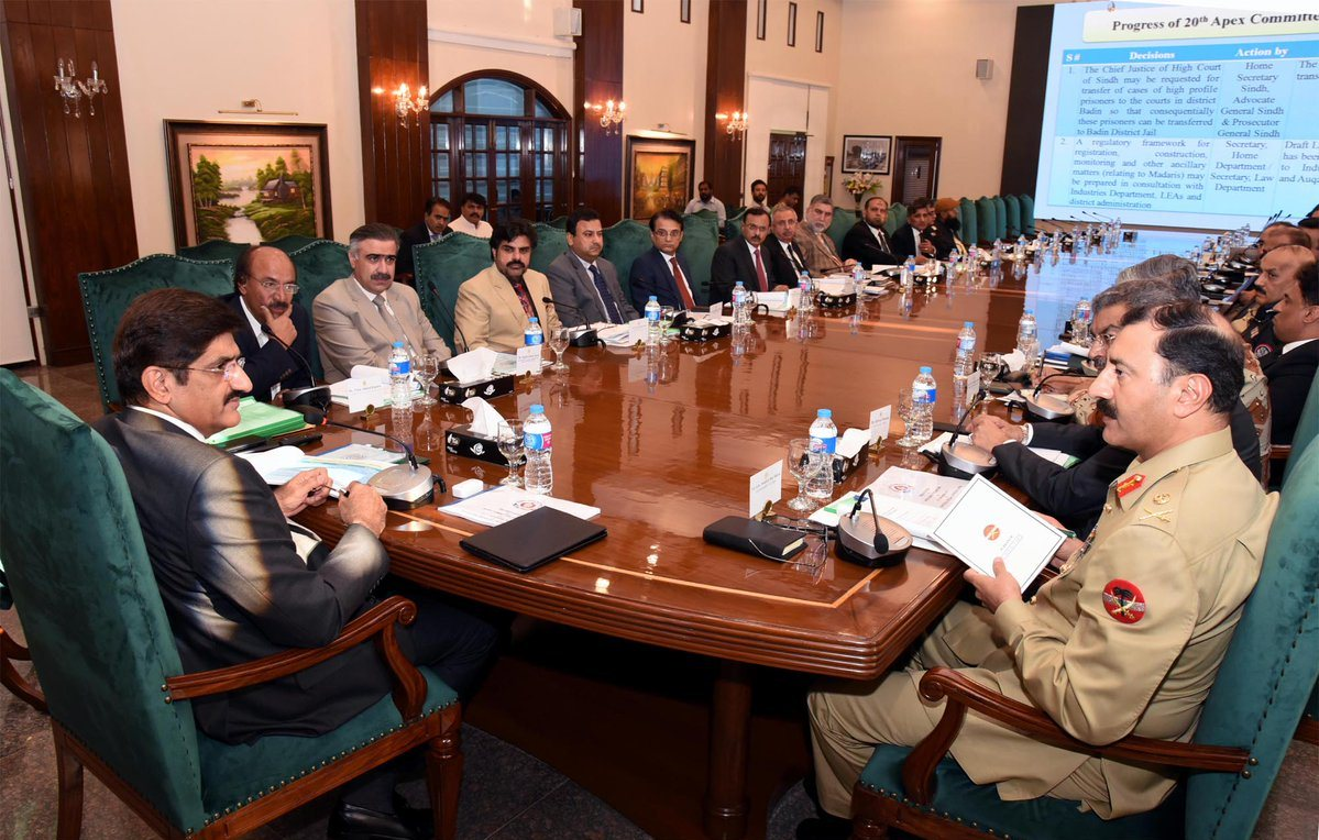 Sindh Apex Committee to meet today