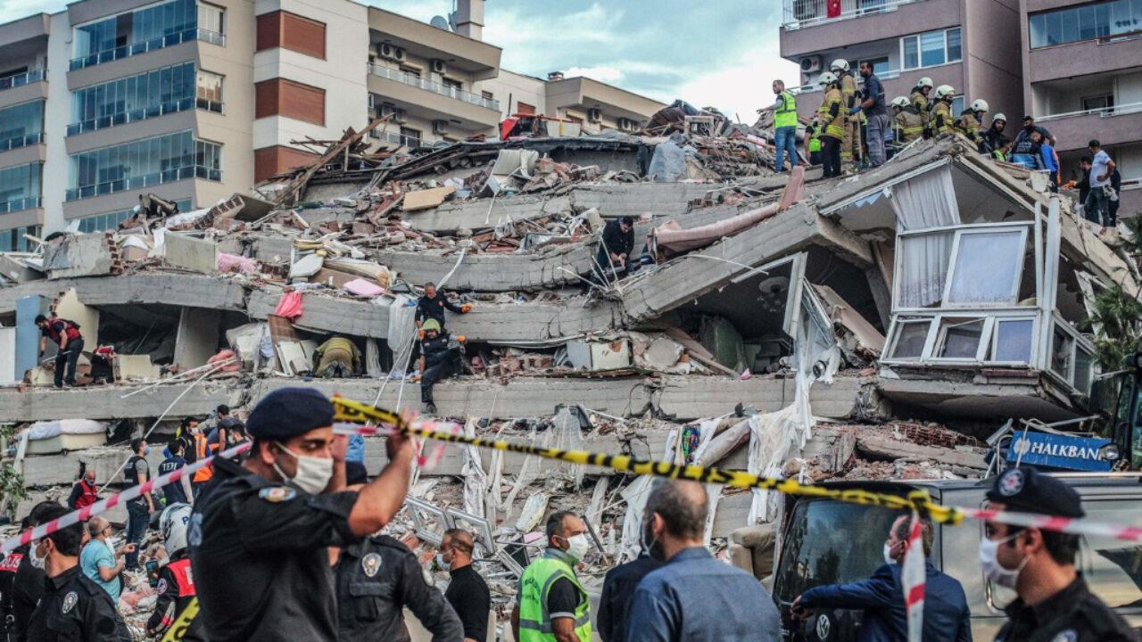 26 dead, buildings collapse as major quake hits Turkey, Greece
