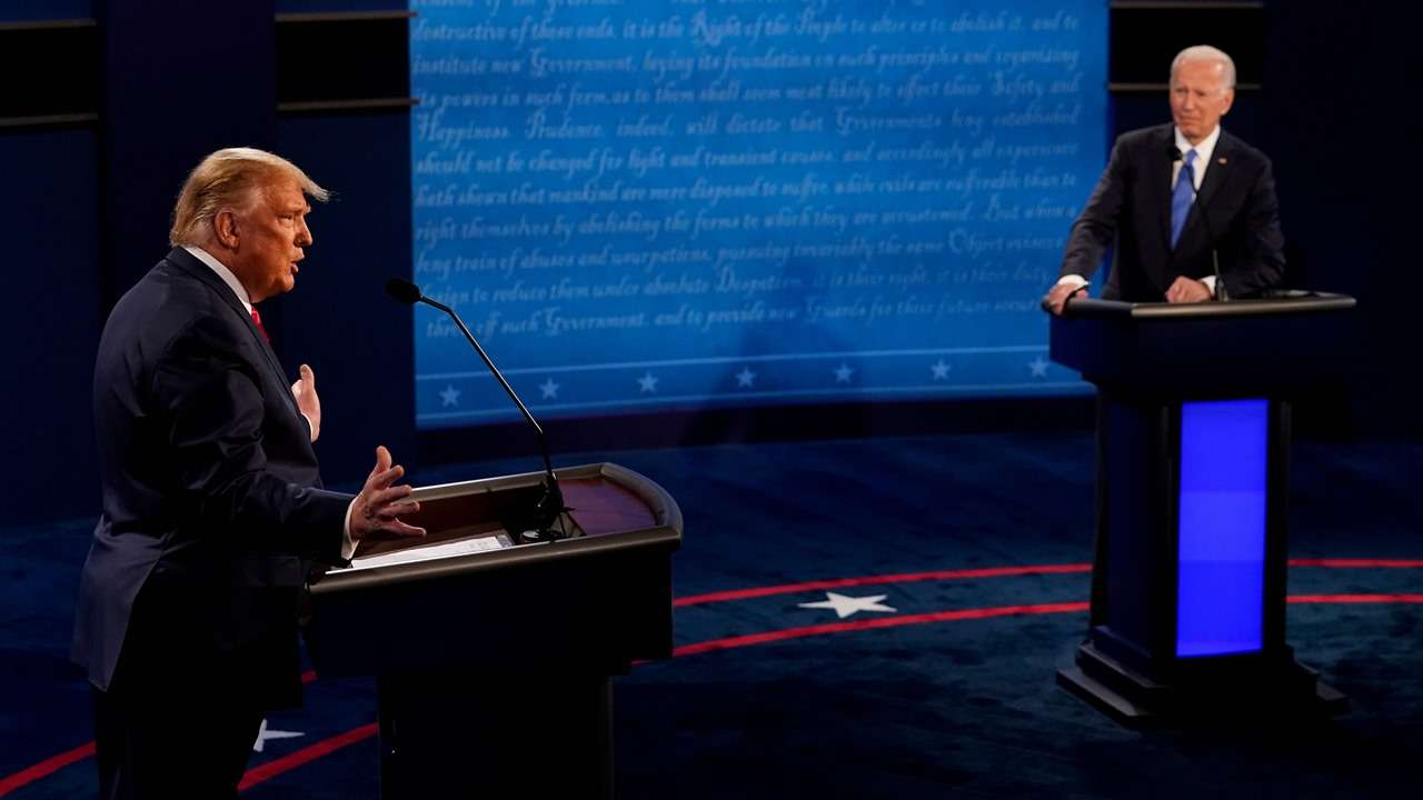 Presidential debate 2020: Trump and Biden clash on pandemic, trade personal jabs