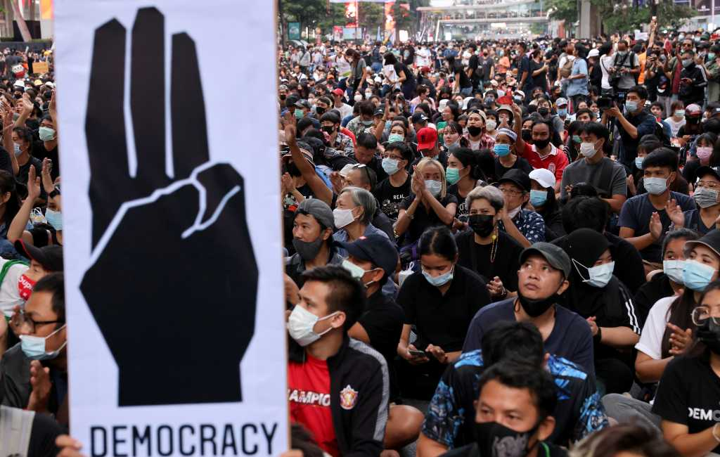 Thai PM says 'illegal protests' must be controlled as parliament opens