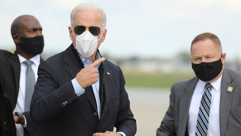 Biden, once mocked by Trump, now the only man on campaign trail