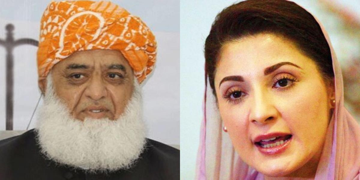 Maryam meets Fazal-ur-Rehman after arrest of Capt Safdar