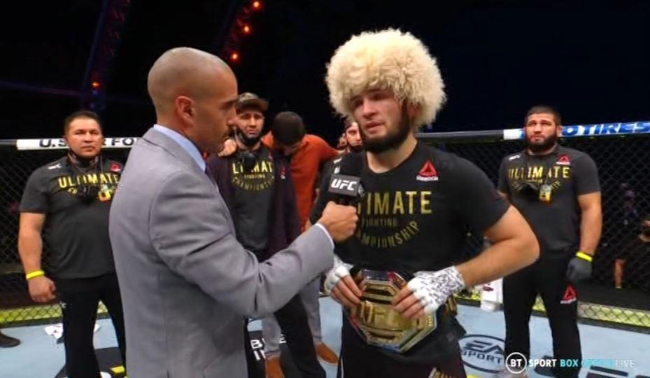 UFC 254: Khabib Nurmagomedov retires after knocking down Justin Gaethje