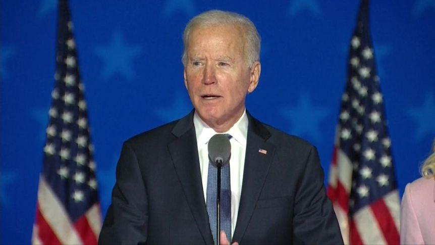 Biden believes he is 'on track' to win US election