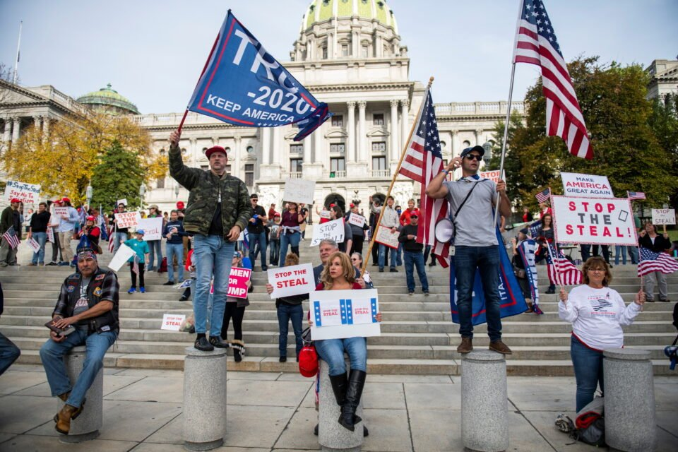 Donald Trump supporters gather in Washington as he pushes false election claims