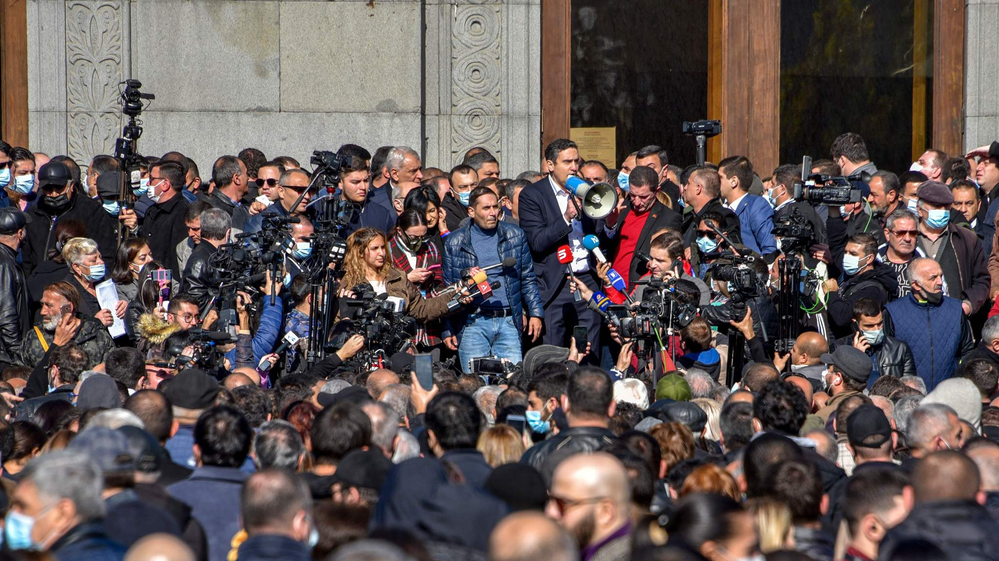 Thousands of Armenians demand prime minister quit over ceasefire