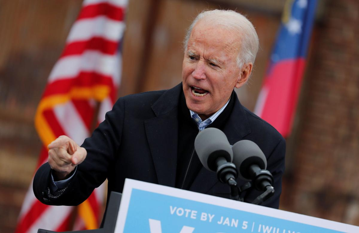 Biden hits campaign trail in Georgia after top Republicans acknowledge his win