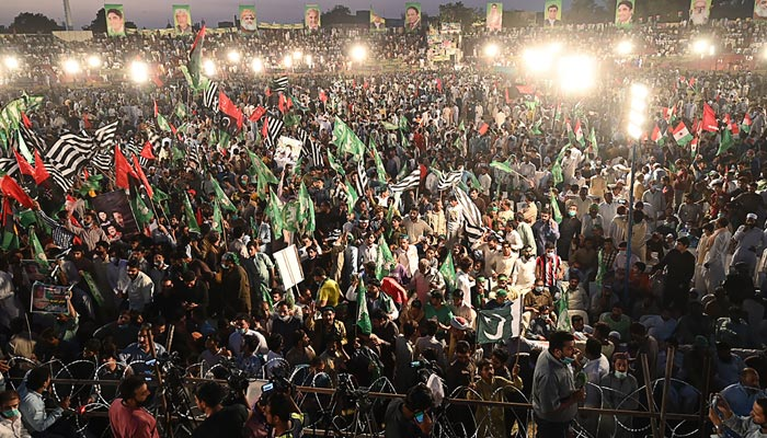 PDM Lahore rally: Two cases lodged for vandalism, forcible entry at Minar-e-Pakistan