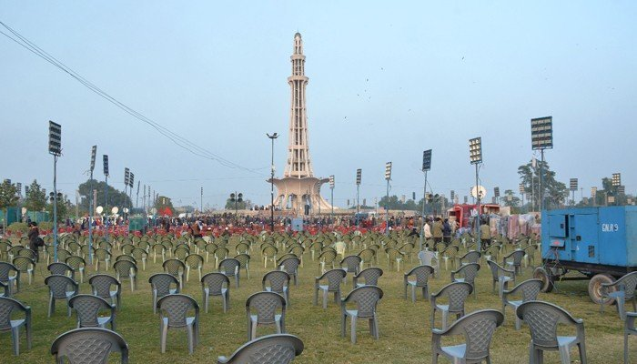 PDM to hold final rally in Lahore today, preparations in full swing