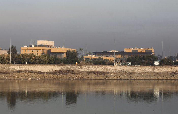 Rockets hit near US embassy in Iraq as tensions flare
