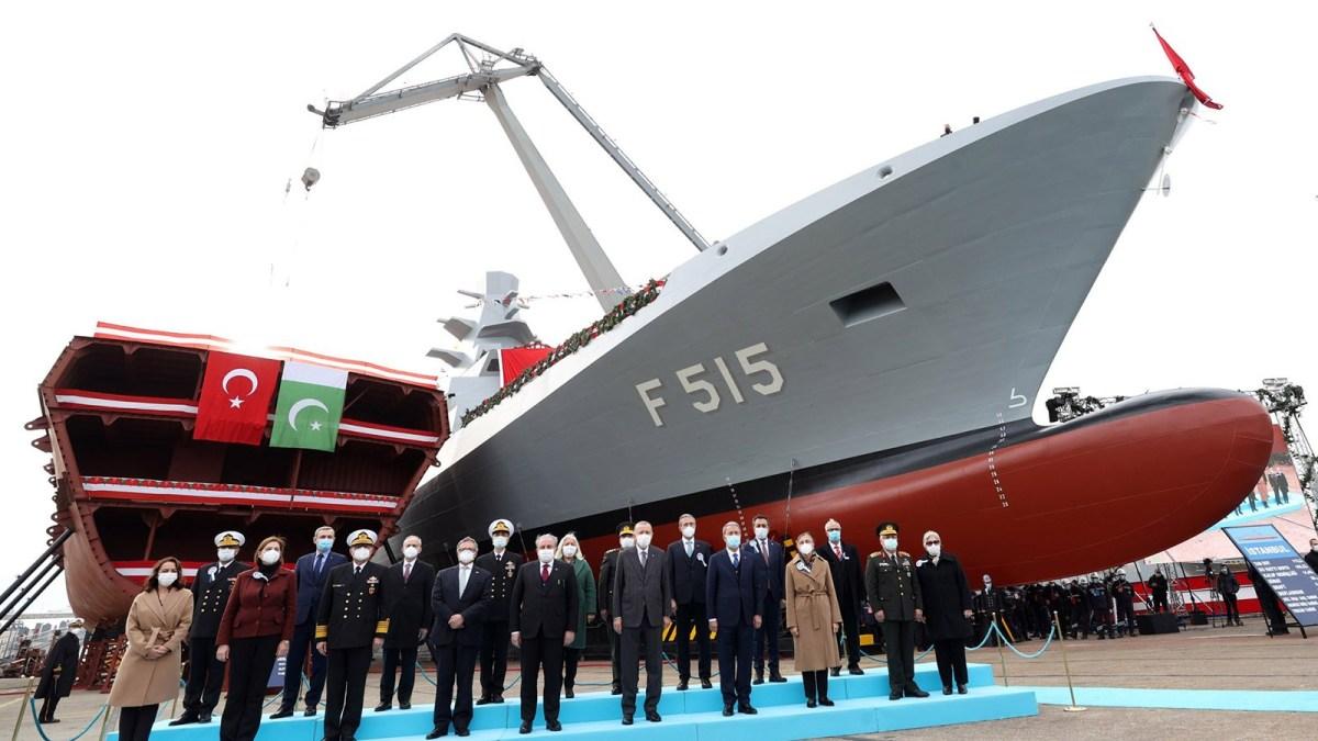 Turkish President launches welding of 3rd MILGEM corvette for Pak Navy