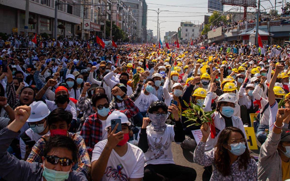 Myanmar police fire rubber bullets on protesters as UN envoy breaks ranks