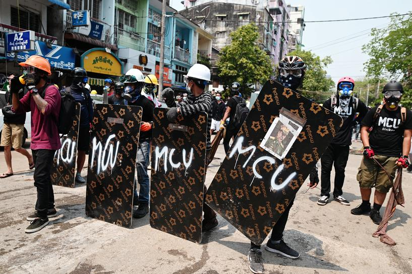 Two killed in protests in Myanmar as U.S. and allies vow to restore democracy