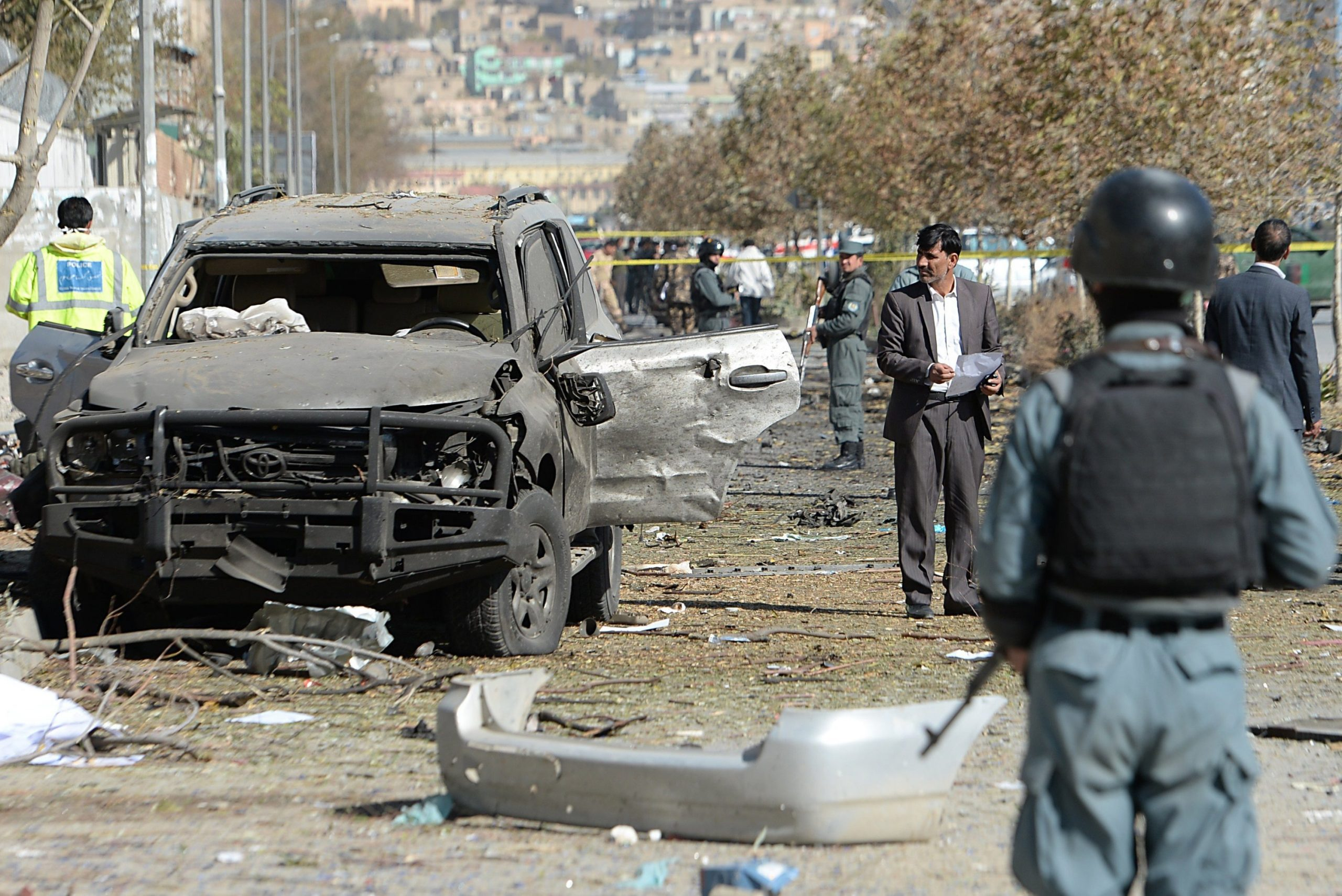 Afghan car bomb toll at least 14 dead, 90 wounded