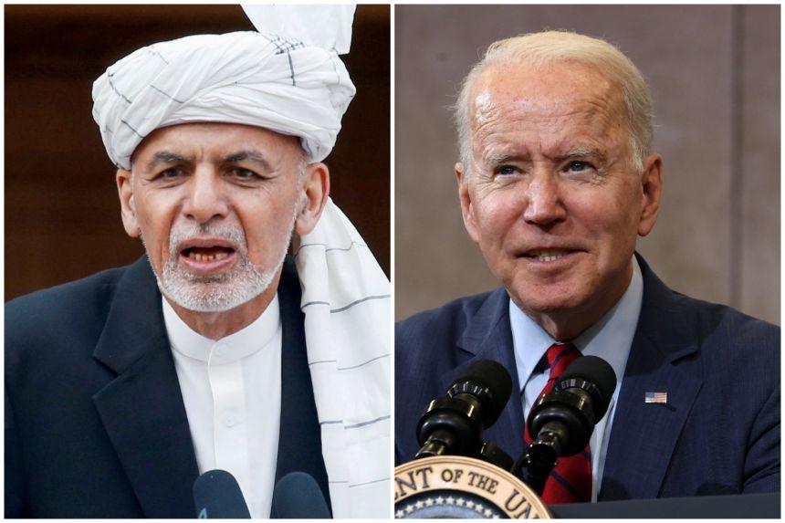 Afghan leader meets Biden as US exit looms