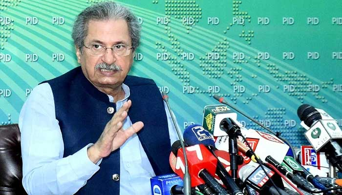 Exams will not be canceled: Shafqat Mahmood