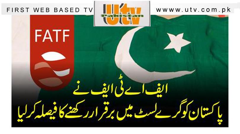 ایف اے ٹی ایف نے پاکستان کو گرے لسٹ میں برقرار رکھنے کا فیصلہ کرلیا 1