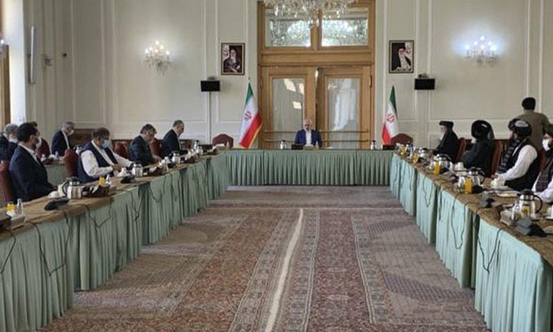 Afghan govt meets Taliban in Tehran: Iran
