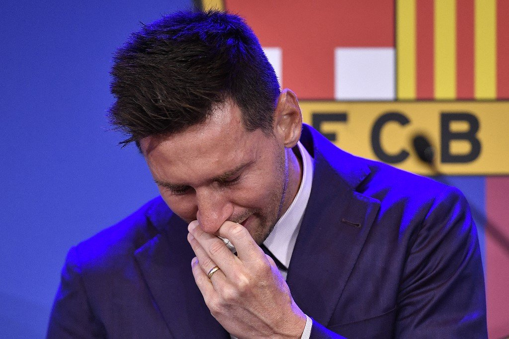 Tearful Messi confirms Barcelona exit and 'possibility' of joining PSG